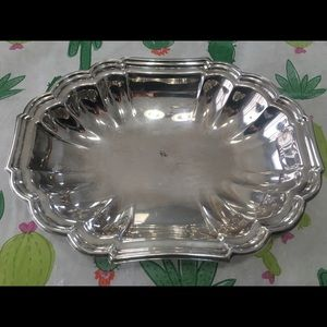 """Fluted Gorham Vegetable Dish Silverplated 10 3/8"""""""